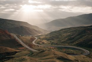 The road to Tajikistan