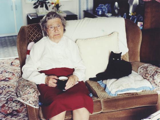 with black cat