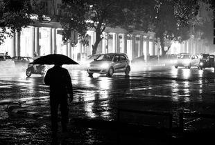 Delhi on a rainy day