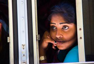 Colombo Bus Girl