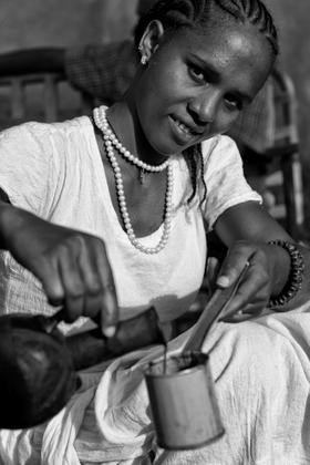 Kaffee-Zeremonie, Axum, Äthiopien