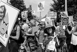 The anti-fracking march and demonstration