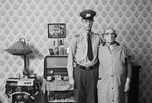 Mrs. Töpfer, my neighbor, with her grandson René, 1986