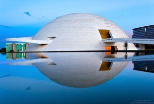 """<a href=""""https://andrewprokos.com/photo/national-museum-of-brasilia-dusk-9361/"""">Museo Nacional de Brasilia at Dusk</a>"""