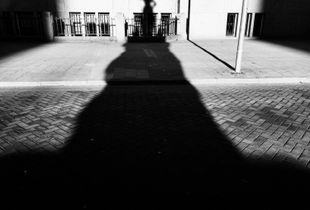 Statue Virgin of Holland (shadow) statue of 1915 by Joseph Graven, Nieuwe markt Rotterdam.