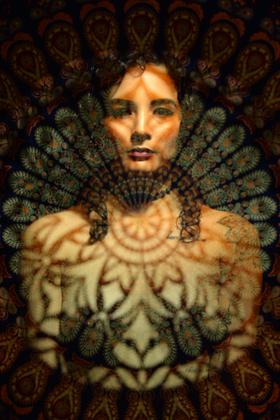 Ria. Stencil Portrait
