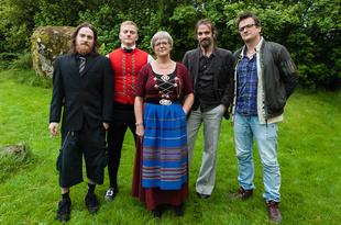 BIRGIT'S GARDEN:  BIRGIT WITH HER SONS # 1, ÓLAVSØKA, TÓRSHAVN, 2013