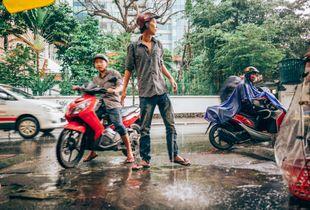 Monsoons, under a heavy rain
