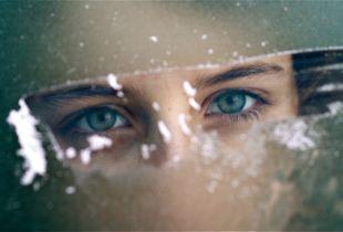 eyes in frost