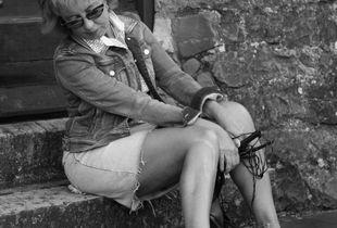 Barefoot walking girl 1