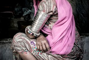 Wife of forge worker,Rajasthan, India