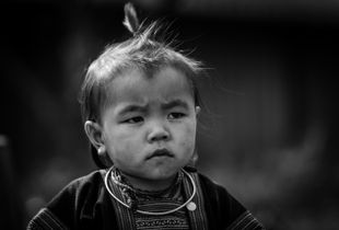 H'Mong Baby Girl In Moc Chau - Viet Nam