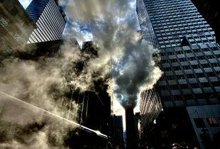 Smoke in the street