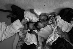 Rohingya boys in a classroom in Kuala Lumpur