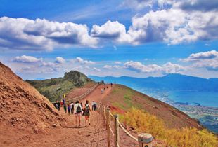Climbing Up Mount Vesuvius