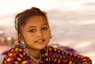 Tribal Girl Selling Jewellery