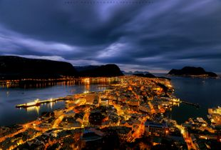 The  city of Ålesund, Norway