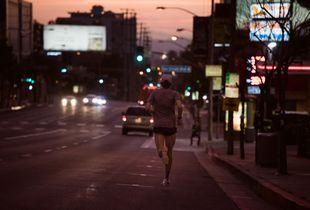 Runner on Sunset Blvd