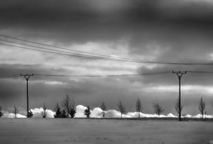 Clouds and powerlines I