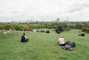The City view from Primrose Hill, Camden, September 2016