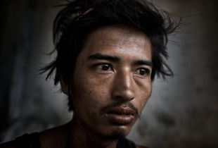 Into The Dark: Scenes From South East Asia's Meth Epidemic. An addict, Tachilek, Burma.