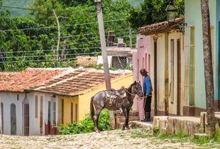 A man and his horse, Trinidad de Cuba, Cuba
