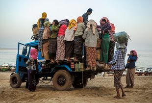 Women going to the market