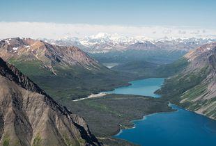 Icefield Ranges as seen from King's Throne Peak, Saint Elias Mountains, Yukon Territory