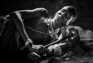 Man From Samburu Tribe Sleeping