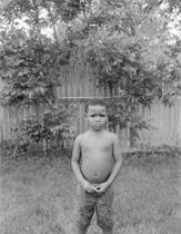 LJ in the backyard, 2020