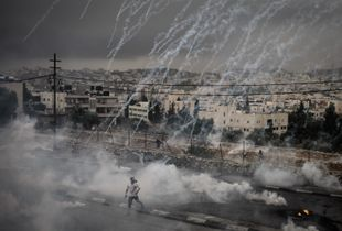 A Shower of Tear Gas Canisters