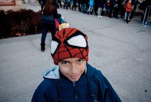 My son Fer in new York