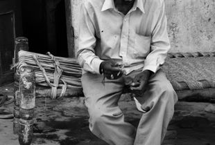 Old Man with a Cigarette