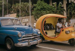 Classic American & Cuban Taxi
