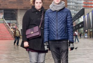 Couple on the streets of Almere