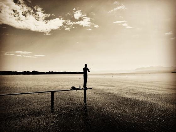 Fishing lake Geneva