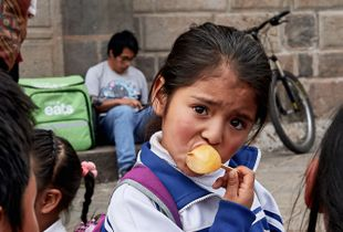 Girl with ice pop, Peru, 2019
