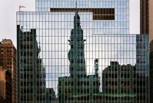 Chrysler building as a shadow