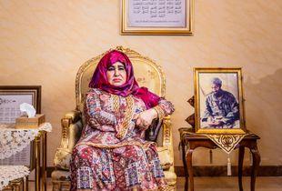 Osama bin Laden's mother, Alia Ghanem, at home in Jeddah, Saudi Arabia