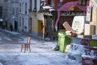 Winter, rue Lepic - Hiver, rue Lepic