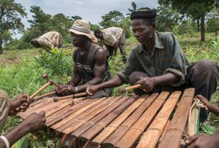 Playing for the farmers, early rainy season