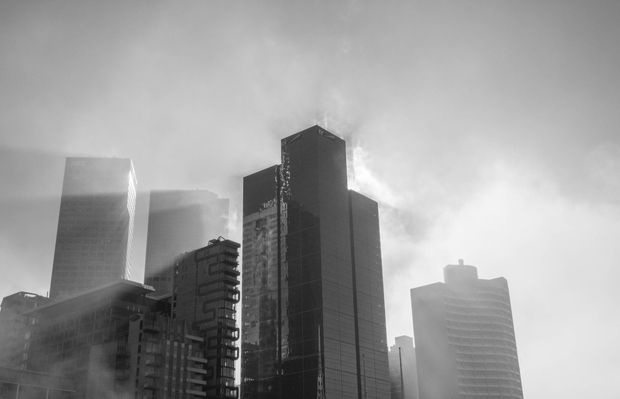 Foggy Melbourne morning
