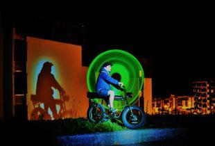Val thorens - Ludo l'écolo et son vélo electrique