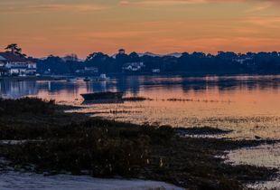 lac hossegor sunset