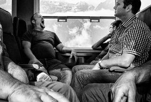 Yawn On Bernina Train
