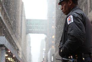 Last Snowstorm. Manhattan, New York, March 2018