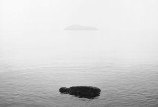 Lake Biwa and Chikubu Island.