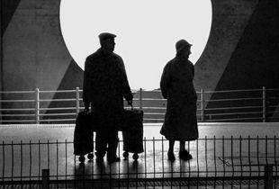 Tati à la gare