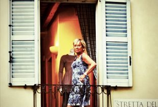 Lady at a balcony in Como