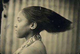 Hair, 8` x 10` Tintype © by David Prifti